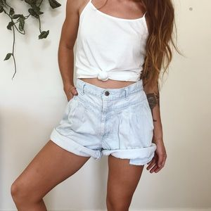 Pants - Retro jean shorts